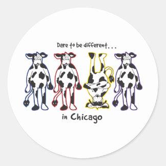 DARE-CHICAGO CLASSIC ROUND STICKER