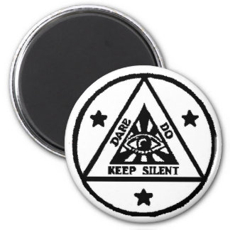 Dare. Do. Keep Silent! The Sorceror's Code! 2 Inch Round Magnet