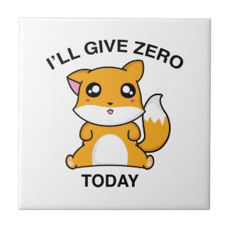 Daré el Fox cero hoy Azulejo Cuadrado Pequeño