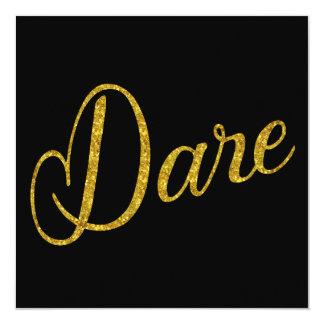 Dare Gold Faux Glitter Metallic Sequins Card
