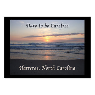 Dare to be Carefree Hatteras NC Business Card Template