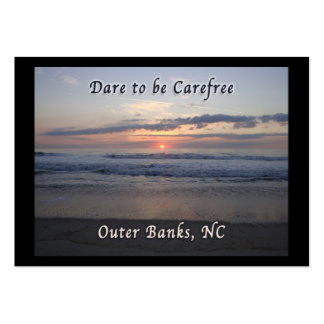 Dare to be Carefree Outer Banks NC Business Card Template