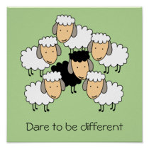 Dare To Be Different Black Sheep Poster