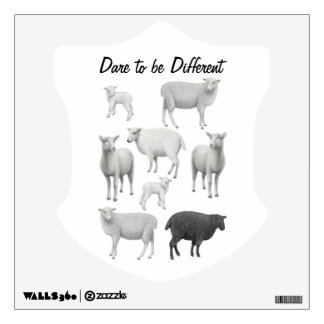 Dare to be Different Black Sheep Wall Decal