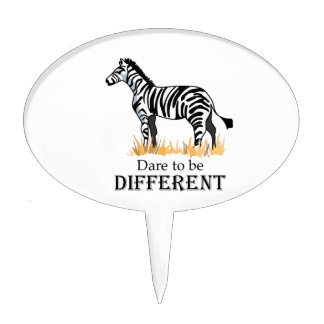 DARE TO BE DIFFERENT CAKE TOPPER