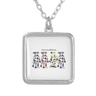Dare to be different Cows Silver Plated Necklace