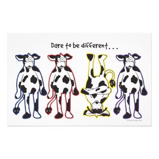 Dare to be different Cows Stationery
