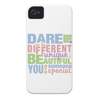 Dare To Be Different custom iPhone case