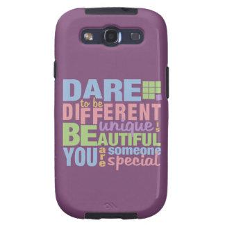 Dare To Be Different custom Samsung case Samsung Galaxy SIII Case