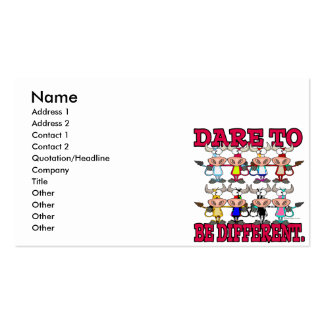 DARE TO BE DIFFERENT funny COWS Business Card