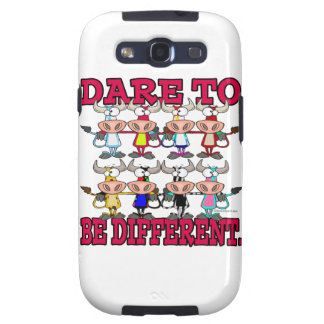 DARE TO BE DIFFERENT funny COWS Galaxy S3 Covers