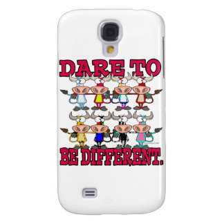 DARE TO BE DIFFERENT funny COWS Galaxy S4 Covers
