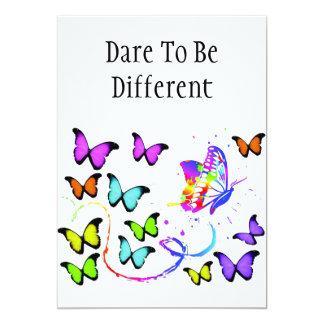 Dare To Be Different invitation