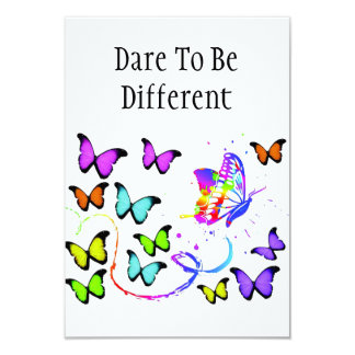 Dare To Be Different Invitations With Envelopes