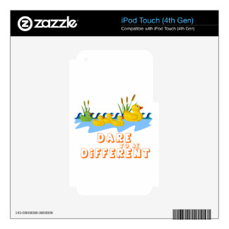 DARE TO BE DIFFERENT iPod TOUCH 4G SKIN