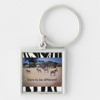 Dare to be different! keychain