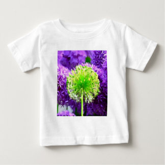 Dare to Be Different Lime Green Purple Flowers Baby T-Shirt