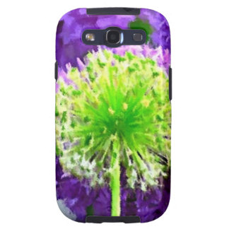 Dare to Be Different Lime Green Purple Flowers Galaxy S3 Cases