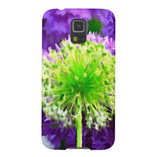 Dare to Be Different Lime Green Purple Flowers Cases For Galaxy S5