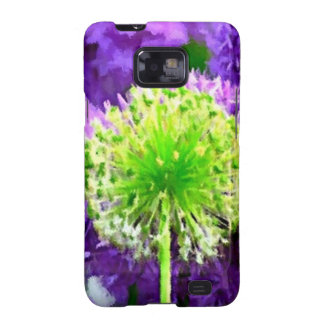 Dare to Be Different Lime Green Purple Flowers Samsung Galaxy S2 Covers