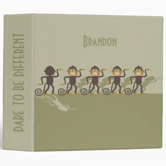 Dare to be different, monkeys, safari vinyl binders