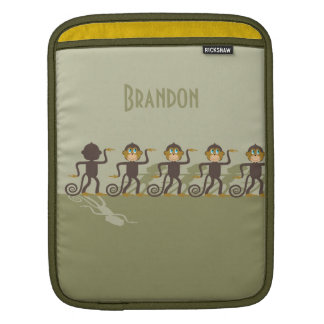 Dare to be different, monkeys, safari iPad sleeve