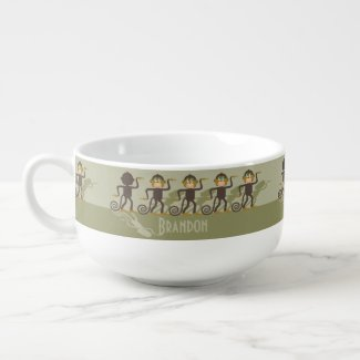 Dare to be different, monkeys, safari soup mug