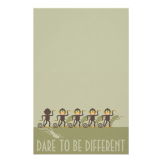 Dare to be different, monkeys, safari stationery