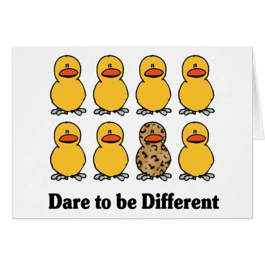 Dare to be Different notecards Card