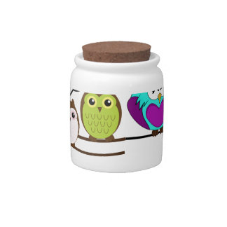 DARE TO BE DIFFERENT - OWLS CANDY DISHES