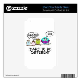 DARE TO BE DIFFERENT - OWLS DECALS FOR iPod TOUCH 4G
