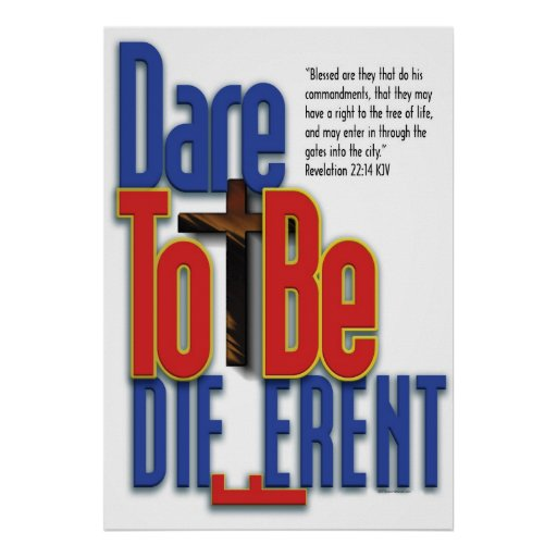 dare to be different_p poster