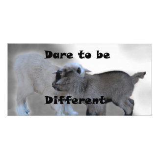 Dare To Be Different Customized Photo Card