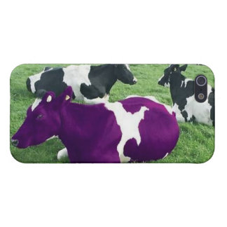 """Dare to be Different"" ""Purple Cow"" Motivation Case For iPhone SE/5/5s"