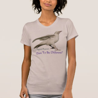 DARE TO BE DIFFERENT! Rare White Raven Photo T-Shirt