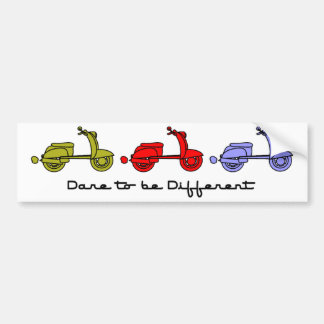 Dare To Be Different Scooter Bumper Sticker Car Bumper Sticker