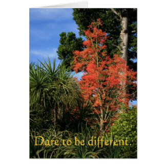 Dare to be Different - Show off your true colors Card