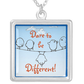 Dare to be Different Silver Plated Necklace