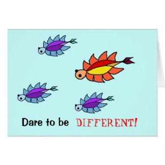 Dare to be Different - Tribby Design Card