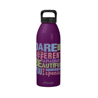 Dare To Be Different water bottle - choose color