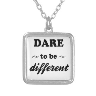 Dare To Be Differernt Silver Plated Necklace