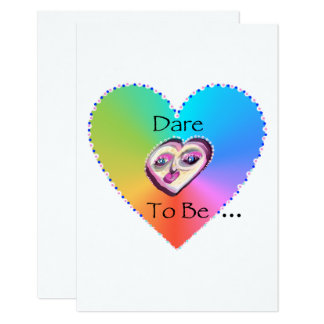Dare to Be My Valentine Flat Card