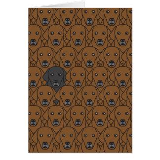 Dare to Be You Labrador Retrievers Greeting Card