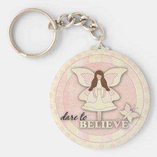 Dare to Believe…Keychain Basic Round Button Keychain