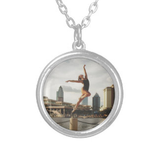 Dare to Dance Silver Plated Necklace