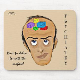 Dare to delve-Psychiatry Humor Cartoon Mouse Pad