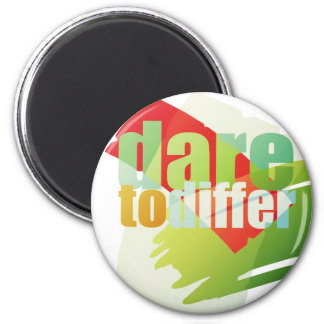 dare to differ 2 inch round magnet