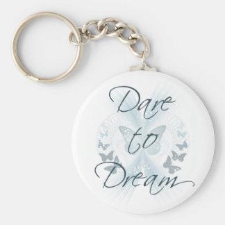 Dare to Dream Basic Round Button Keychain