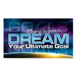 Dare To Dream Goal Card Double-Sided Standard Business Cards (Pack Of 100)