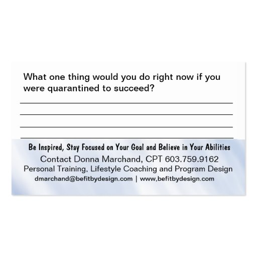 dare to dream goal card business card template